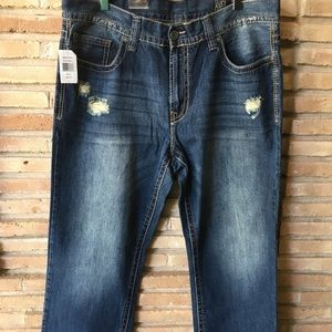 Axel Jeans 38 x 32 Distressed relaxed straight